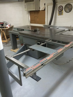 Featured products and equipment from rudolf bass inc for 10 foot sliding table saw